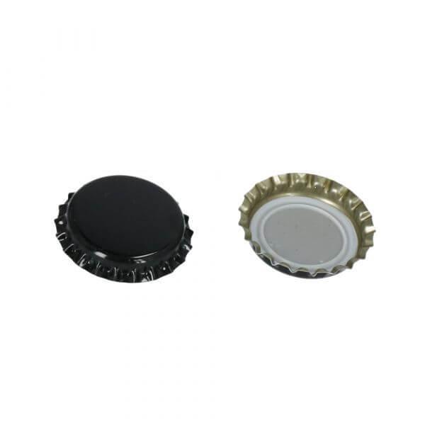 Kroonkurk zwart 29mm