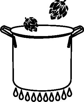 Kookpan met hop